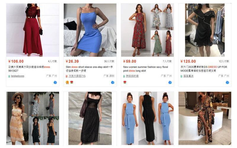 Váy đầm Taobao rất đa dạng về kiểu dáng, mẫu mã